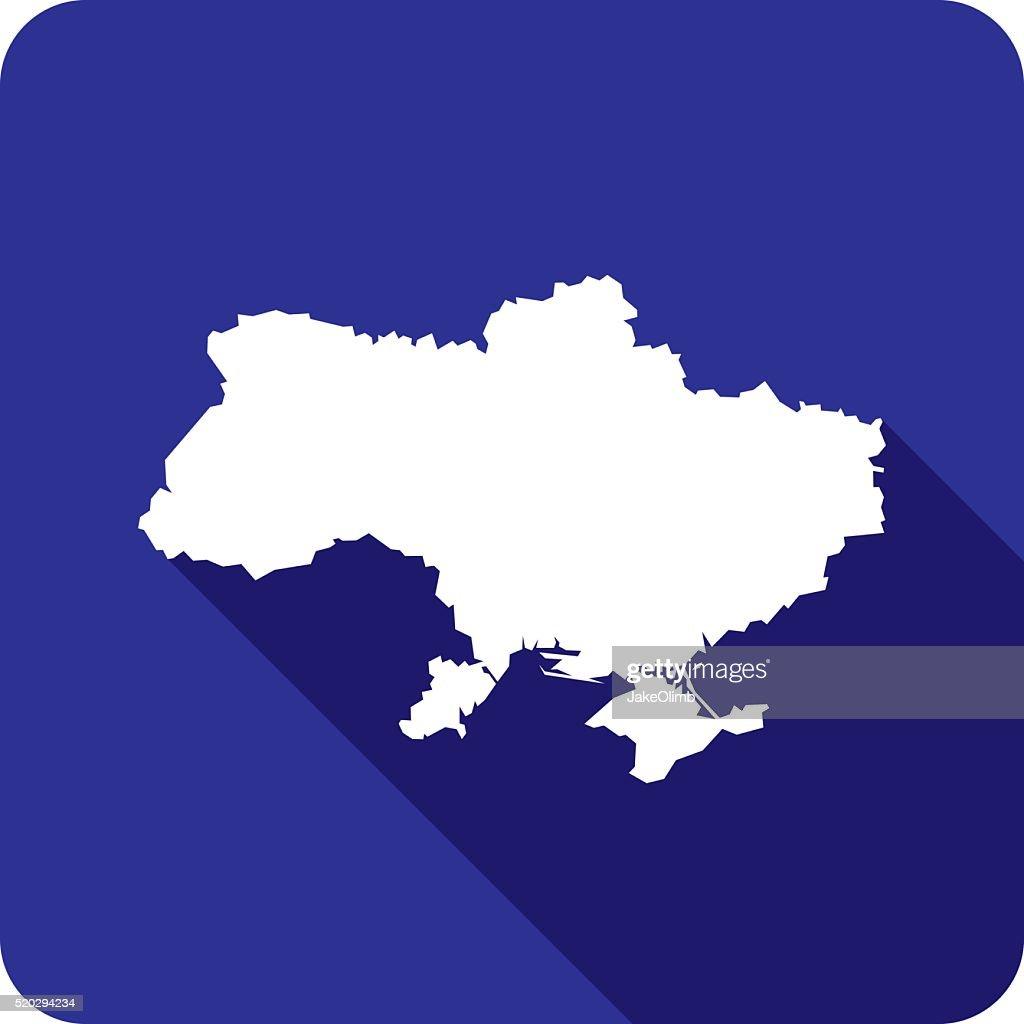 Ukraine Icon Silhouette