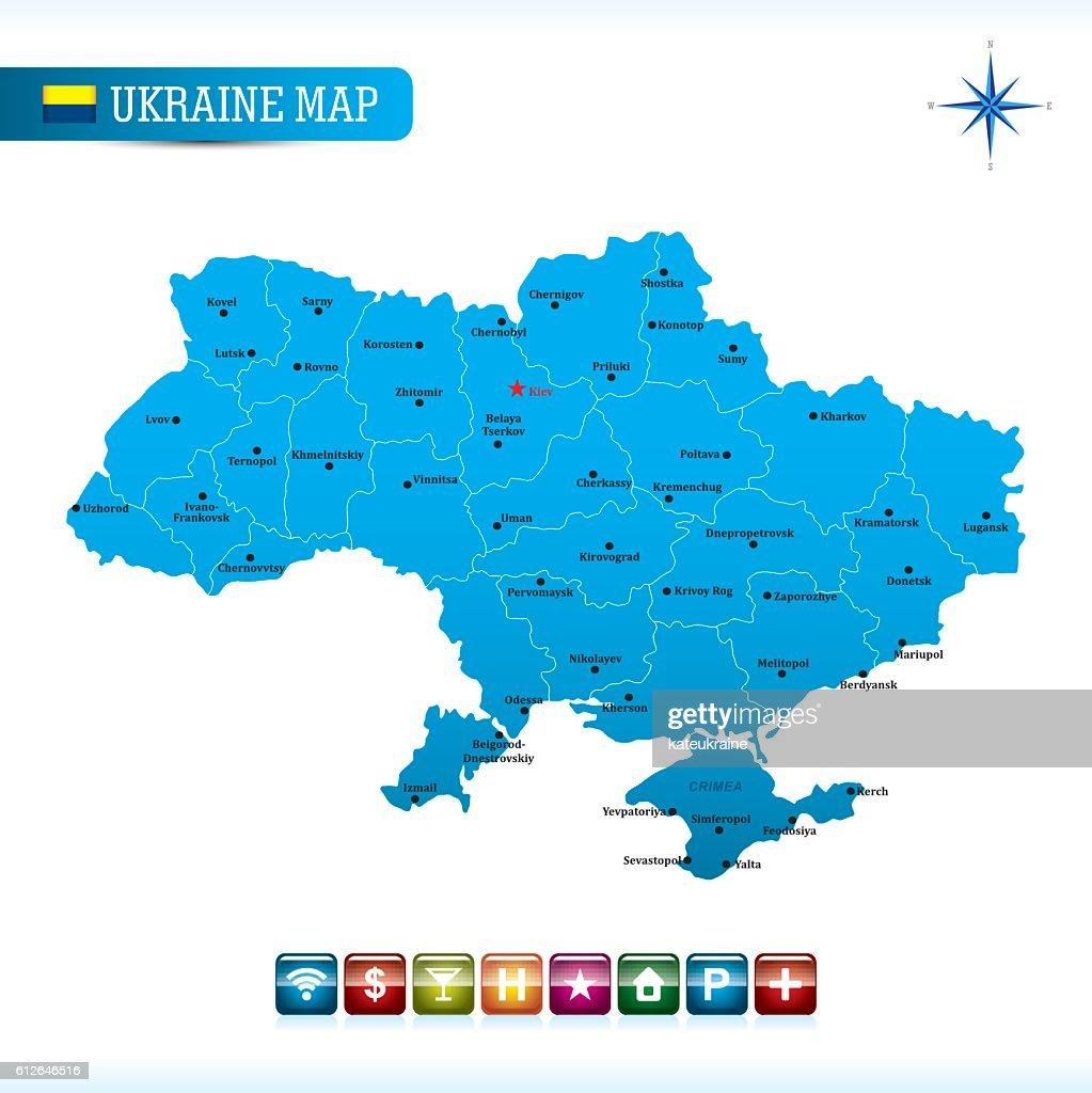 Ukraine Vector Map