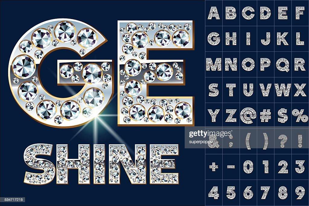 Ultimate alphabet of diamonds and platinum ingot