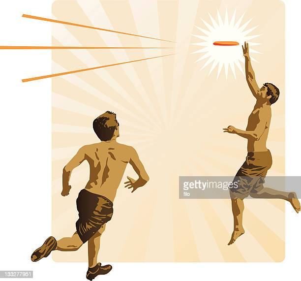 ultimate frisbee [vector] - discus stock illustrations, clip art, cartoons, & icons