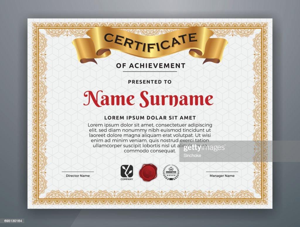 Ultipurpose Moderne Zertifikatvorlage Vektorgrafik | Getty Images