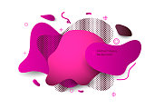 Ultra color abstract shapes dynamic background. Unique abstract graphic elements. Banner with a gradient shape. Minimal modern style composition. EPS10 vector.