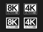 Ultra HD 8K and 4K Sign Set