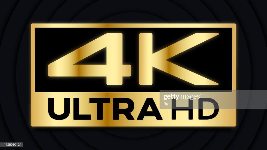 4K Ultra HD Symbol : stock illustration