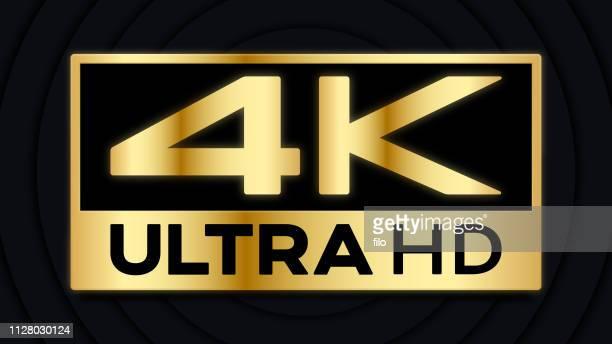 4k ultra hd symbol - wide screen stock illustrations