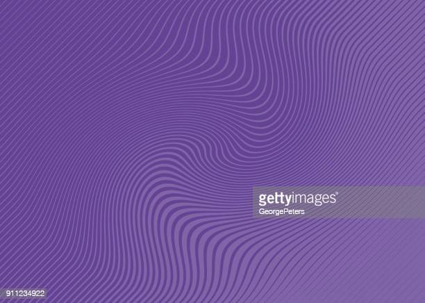 ultra violet halftone pattern, abstract background of rippled, wavy lines - stretched image stock illustrations, clip art, cartoons, & icons