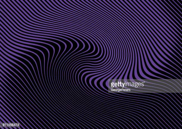 Ultra violet Halftone Pattern, Abstract Background of rippled, wavy lines