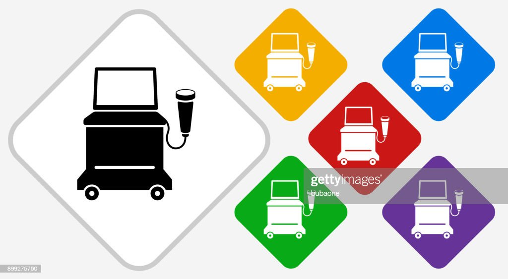 Ultrasound Machine Color Diamond Vector Icon Vector Art Getty Images