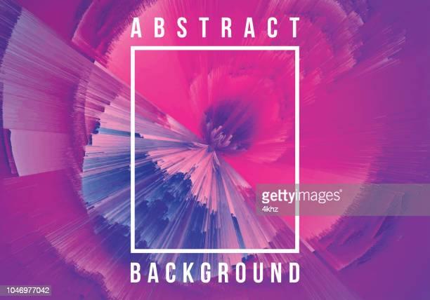 ultraviolet blast digital glitch abstract grunge background - synthpop stock illustrations