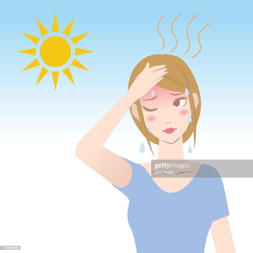ultraviolet rays from the sun, human heatstroke