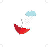 umbrella and cloud