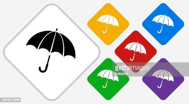 Icono de Vector de diamante de Color de paraguas