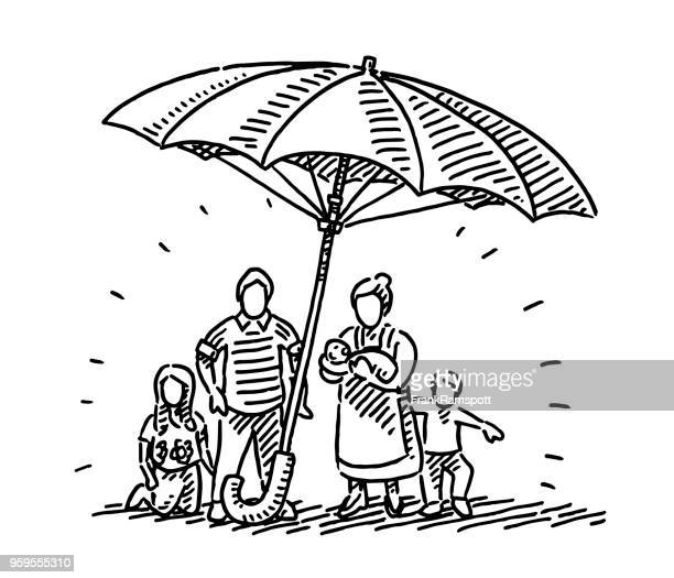 Umbrella Family Protection Concept Drawing