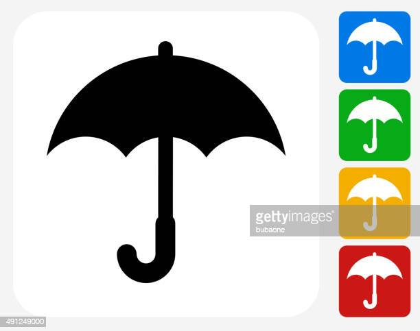 Umbrella Icon Flat Graphic Design