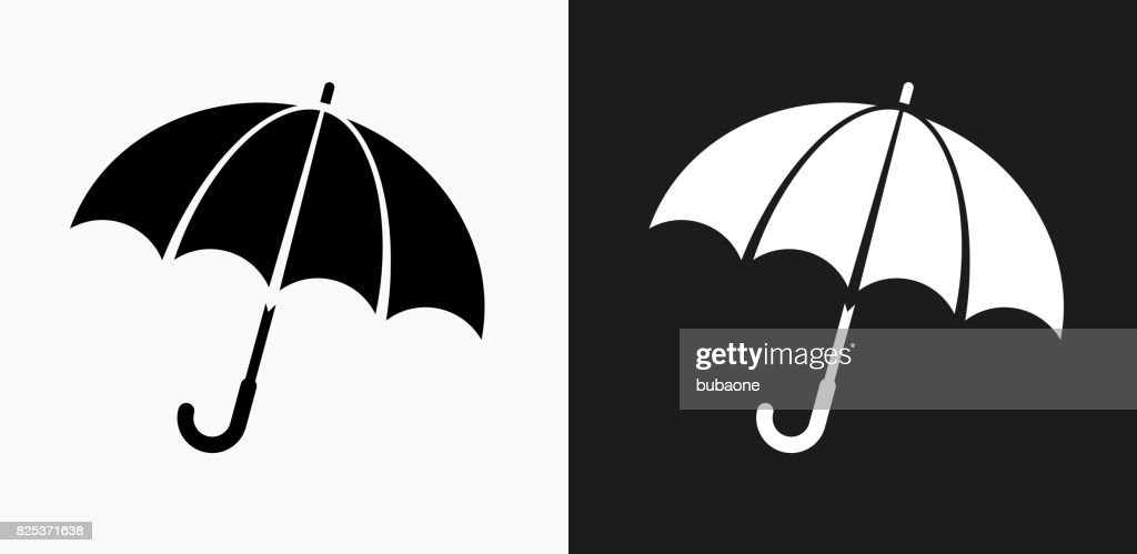 Umbrella Icon on Black and White Vector Backgrounds : stock illustration