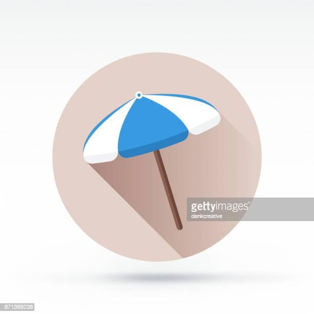 ilustraciones, imágenes clip art, dibujos animados e iconos de stock de sombrilla icono de - largo longitud