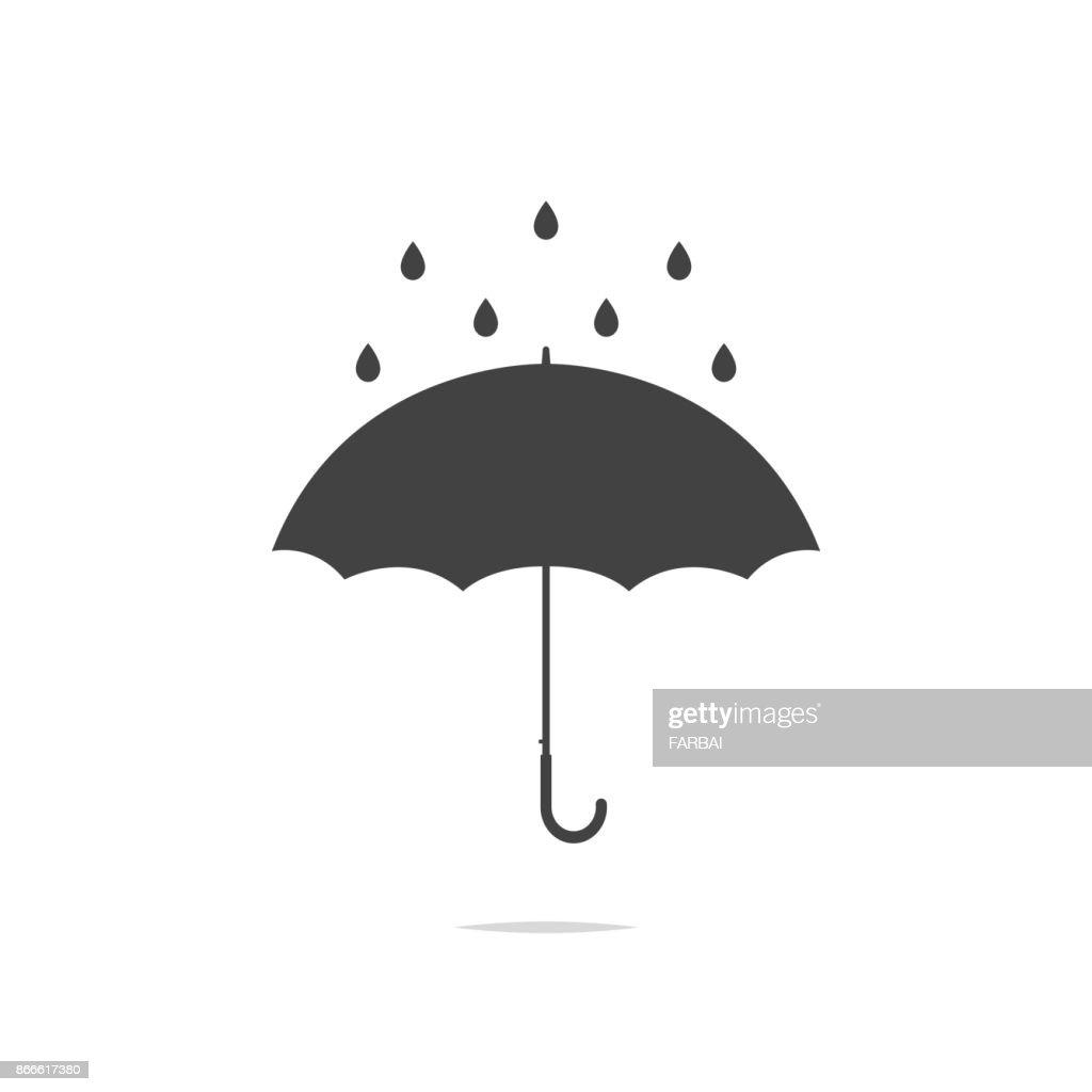 Umbrella rain icon vector