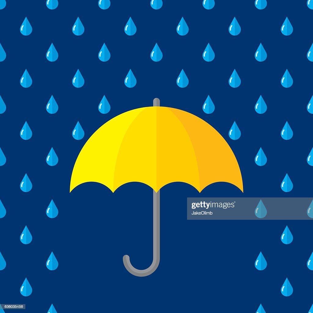 Umbrella Rain : stock illustration