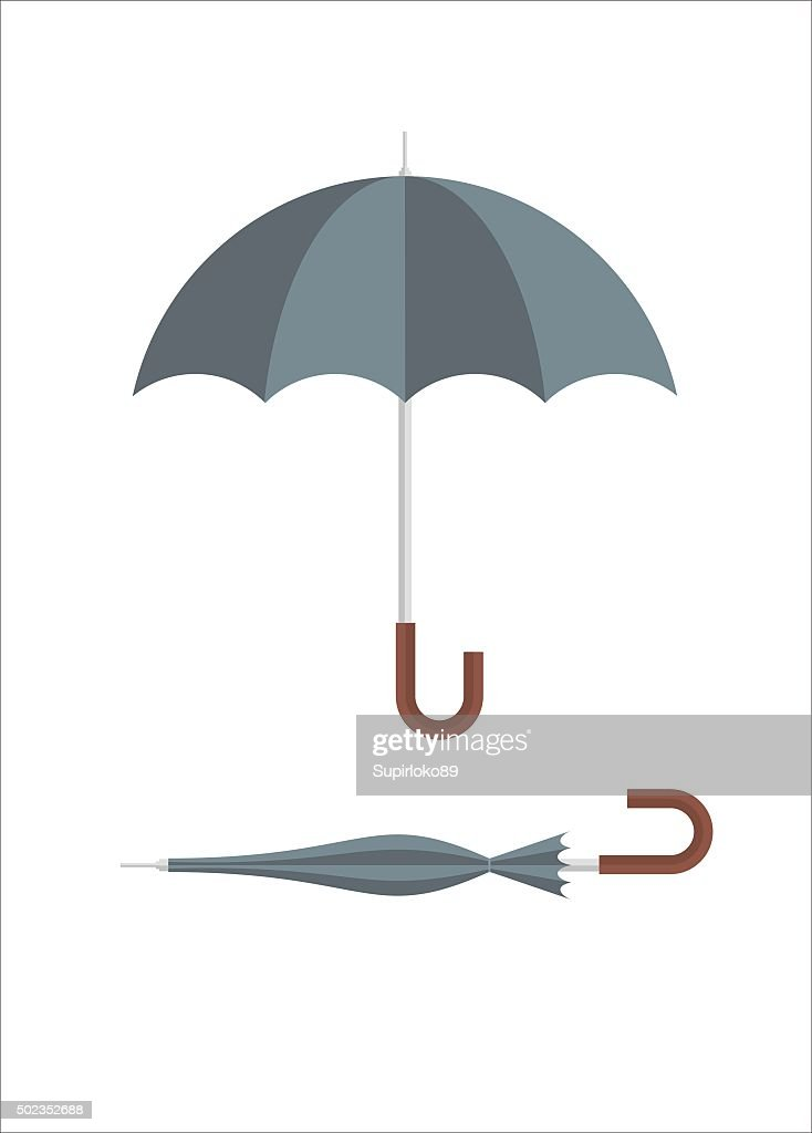 umbrella simple illustration
