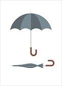 umbrella simple illustration