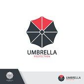 Umbrella symbol icon design.