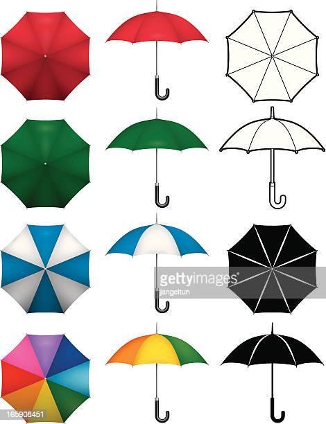 umbrella - parasol stock illustrations