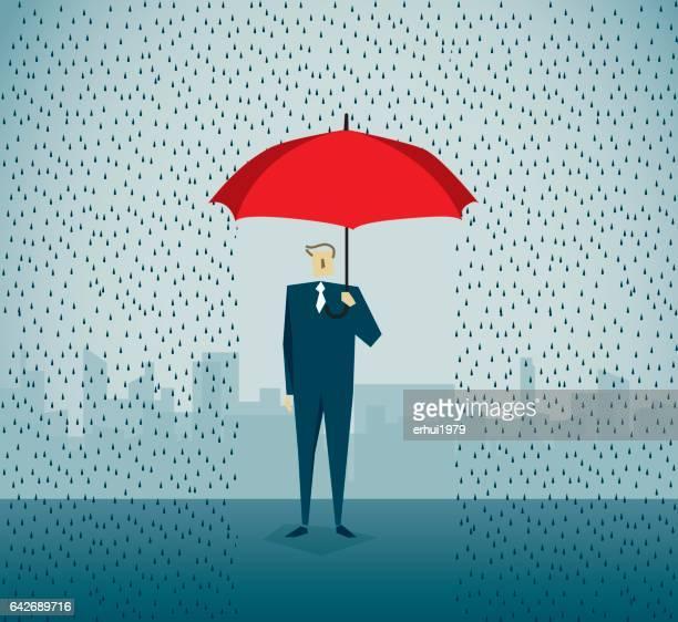umbrella - insurance agent stock illustrations, clip art, cartoons, & icons