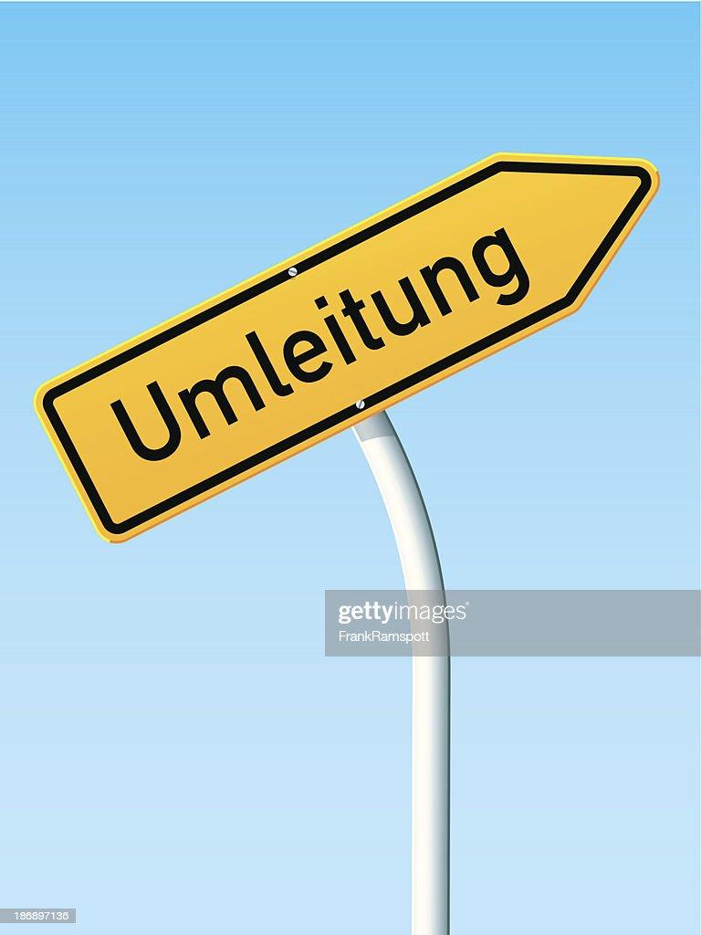 Umleitung Concept Arrow Up German Road Sign : Stock Illustration