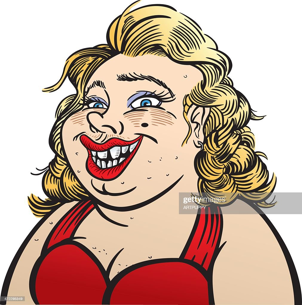 Unattractive Woman : stock illustration