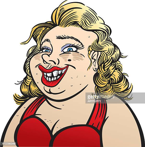 unattractive woman - cartoon hobo stock illustrations