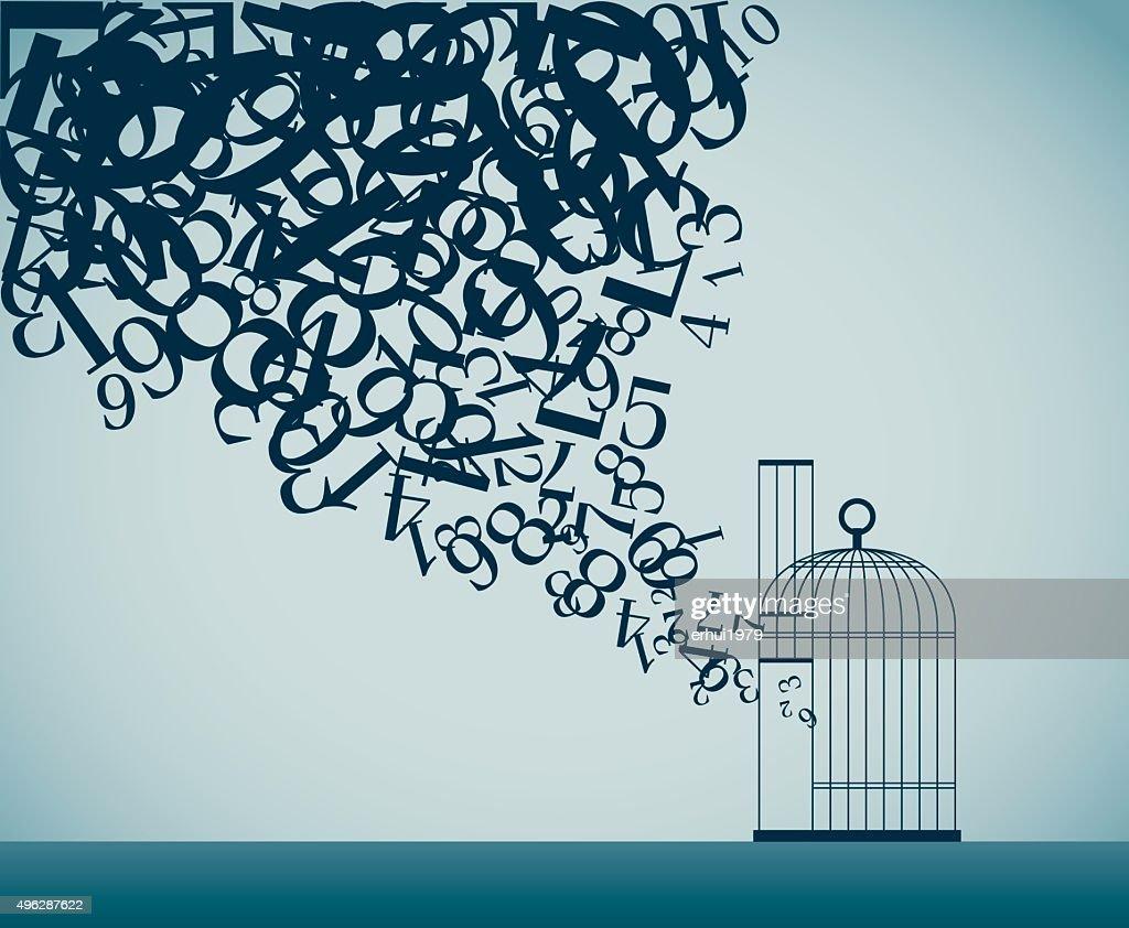 Unchain : stock illustration
