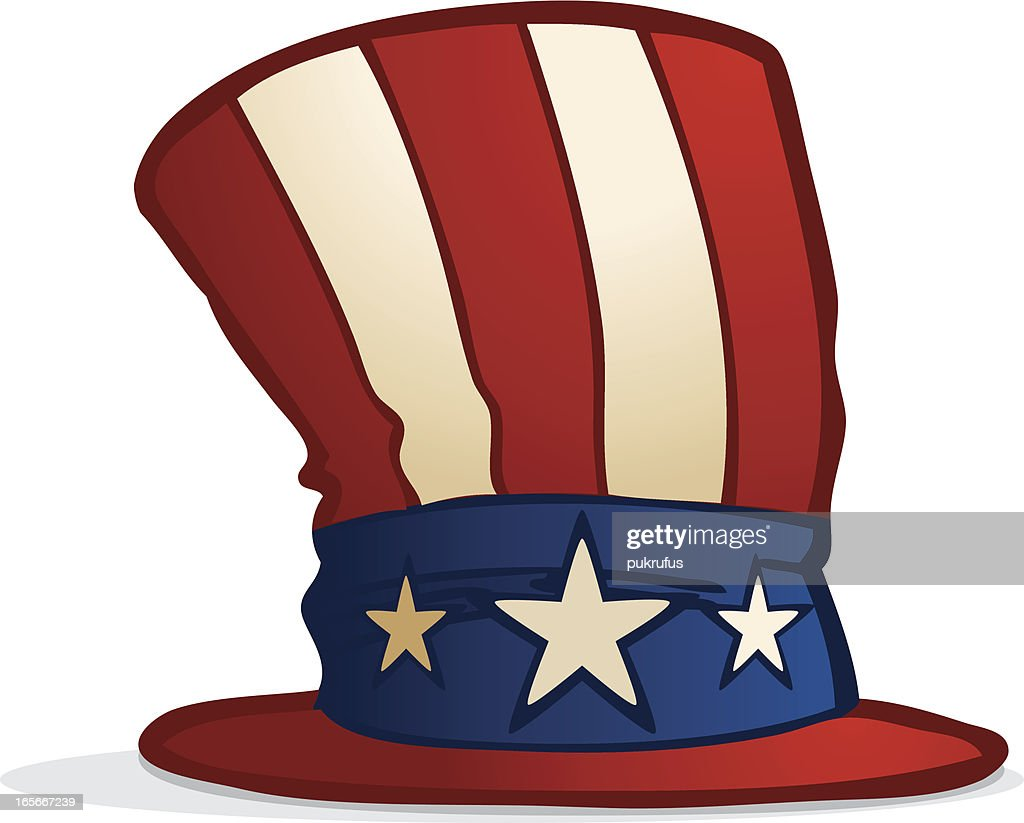 uncle sam hat vector art getty images rh gettyimages com 4th of July Clip Art Starfish Clip Art