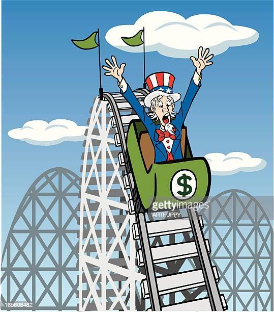 Uncle Sam auf der Achterbahn