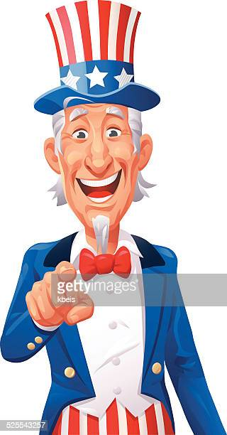 uncle sam pointing - actor stock illustrations