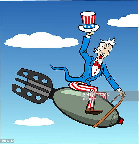 Uncle Sam Riding Bomb