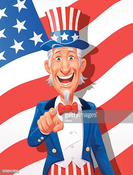 uncle sam wants you - actor stock illustrations