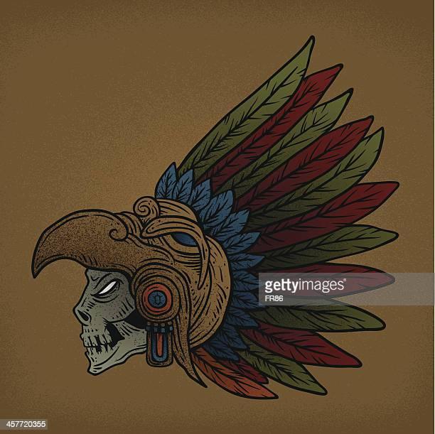 undead aztec warrior - aztec stock illustrations