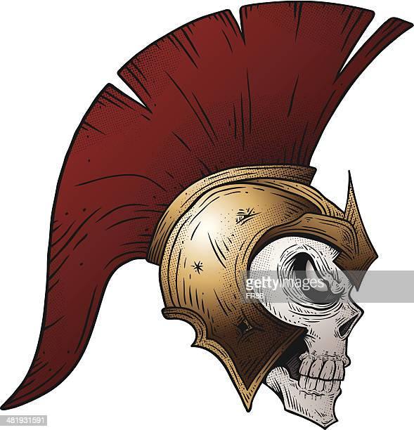 undead trojan warrior - sparta greece stock illustrations, clip art, cartoons, & icons