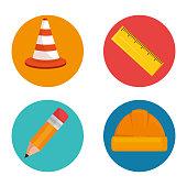 under construction icon set
