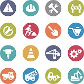 Under Construction Icons - Circle Series