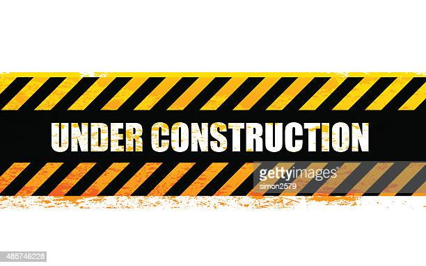 under construction sign - foundation stock illustrations, clip art, cartoons, & icons