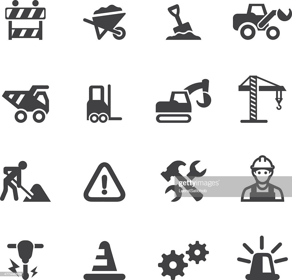 Under Construction Silhouette icons : stock illustration