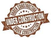 under construction stamp. sign. seal