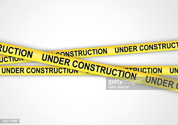 under construction tapes - foundation stock illustrations, clip art, cartoons, & icons
