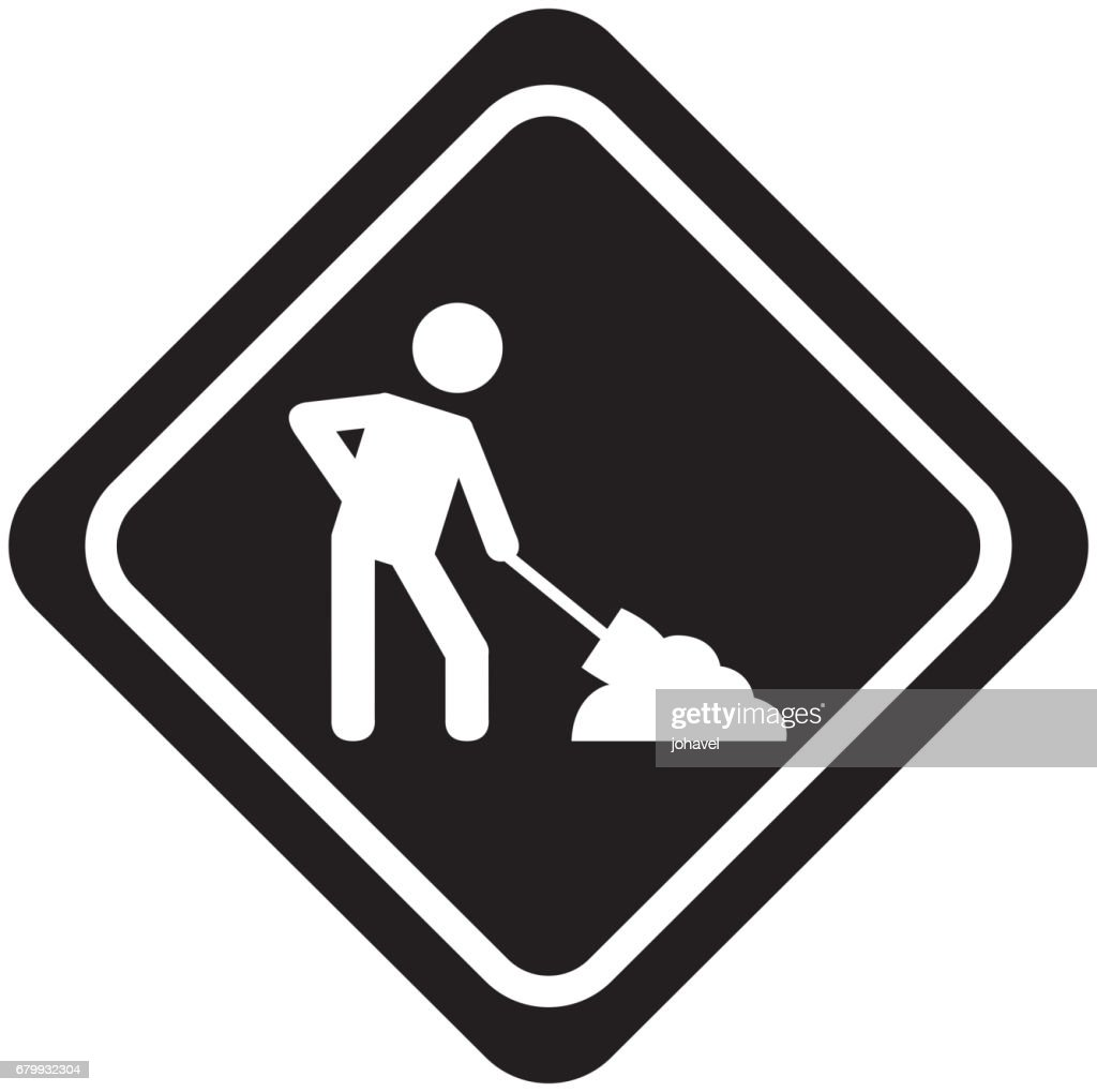 under construction traffic signal icon