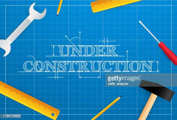 under construction - ruler stock illustrations