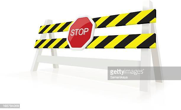 under construction - barricade stock illustrations