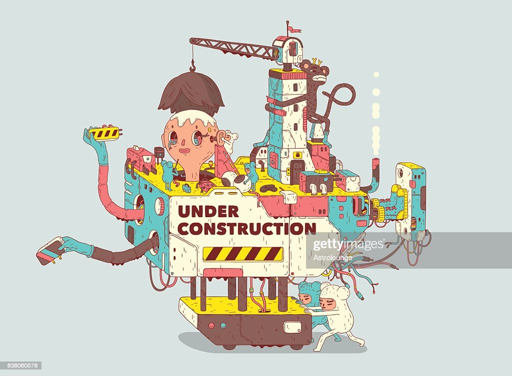 Under Construction : stock illustration