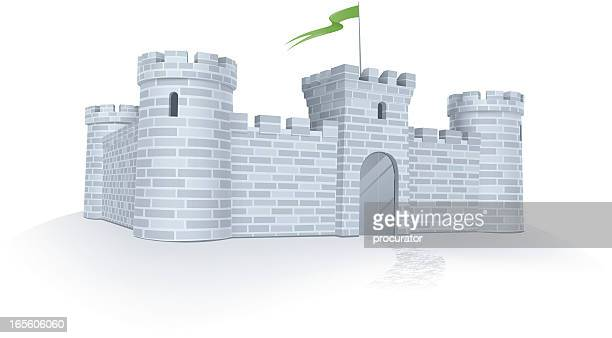 under protection - castle stock illustrations, clip art, cartoons, & icons