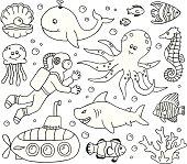 Under the Sea Doodles